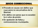 juicio correccional