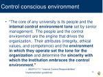 control conscious environment