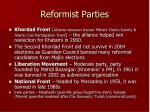 reformist parties
