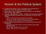 women the political system