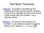 two more theorems