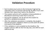 validation procedure