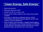 clean energy safe energy