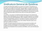 sindicatura general de quiebras