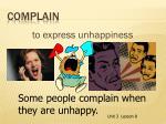 complain