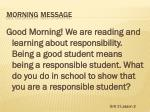 morning message1