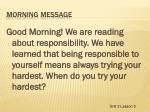morning message2