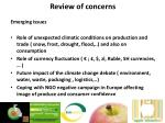 review of concerns3
