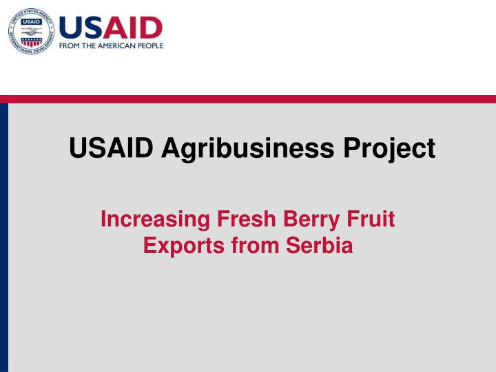 usaid agribusiness project n.