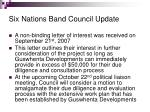 six nations band council update