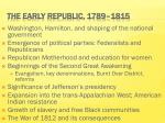 the early republic 1789 1815