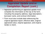 appraisal update and or completion report cont3