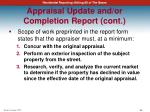 appraisal update and or completion report cont4