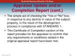 appraisal update and or completion report cont5