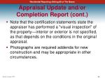 appraisal update and or completion report cont6