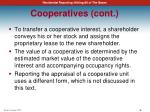 cooperatives cont