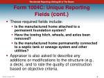 form 1004c unique reporting fields cont