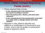 form 1004c unique reporting fields cont2