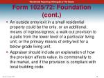 form 1025 72 foundation cont