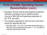 form 216 998 operating income reconciliation cont1