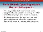 form 216 998 operating income reconciliation cont5