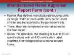 manufactured home appraisal report form cont