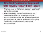 one unit residential appraisal field review report form cont