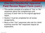 one unit residential appraisal field review report form cont1