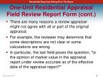 one unit residential appraisal field review report form cont2