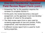 one unit residential appraisal field review report form cont3