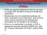 planned unit developments puds