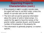 reporting property characteristics cont1
