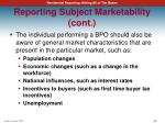 reporting subject marketability cont