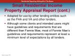 small residential income property appraisal report cont