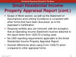 small residential income property appraisal report cont1