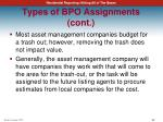 types of bpo assignments cont8