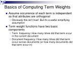 basics of computing term weights