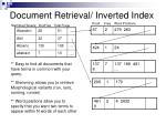 document retrieval inverted index
