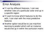 error analysis4