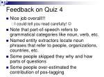 feedback on quiz 41