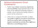 adolescent development clinical considerations1