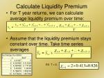 calculate liquidity premium