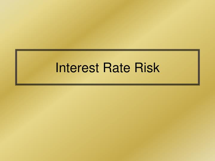 interest rate risk n.