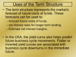 uses of the term structure