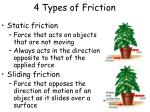 4 types of friction