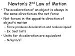 newton s 2 nd law of motion1