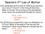 newton s 2 nd law of motion6