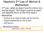 newton s 3 rd law of motion momentum