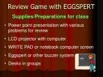 review game with eggspert