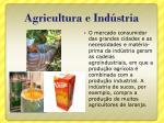 agricultura e ind stria